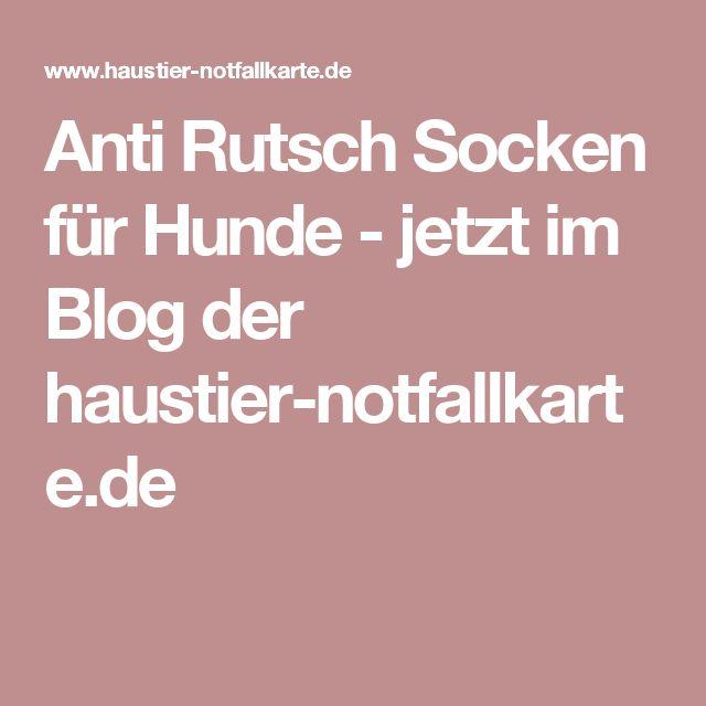 Anti Rutsch Socken für Hunde - jetzt im Blog der haustier-notfallkarte.de
