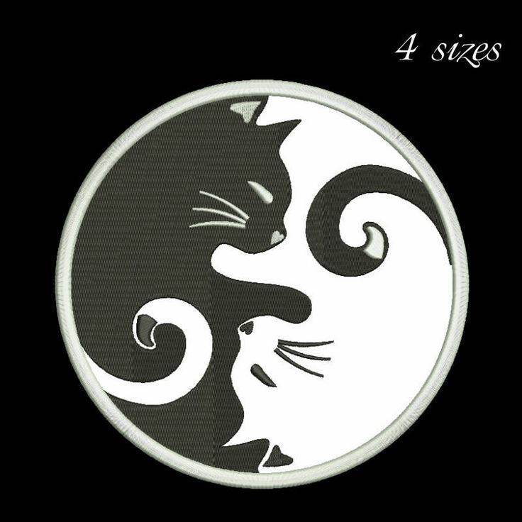 Ying-yang cat embroidery design symbol applique designs machine  instant digital download pattern holiday designs hoop file towel Hindu by SvgEmbroideryDesign on Etsy