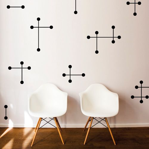 Mid-Century Stars Wall Decal by Surface Graphics - Spark Living - online boutique for unique home decor, gifts and accessories