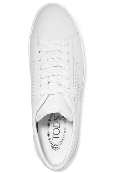 Tod's - Perforated Leather Sneakers - White - IT36.5