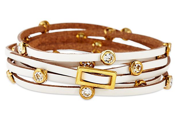 White Wrap Bracelet on OneKingsLane.com
