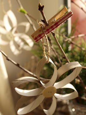 Veleúspěšná recyklace ruliček od toaletního papíru - nádherné jarní i vánoční dekorace - Rodinné centrum Mašinka