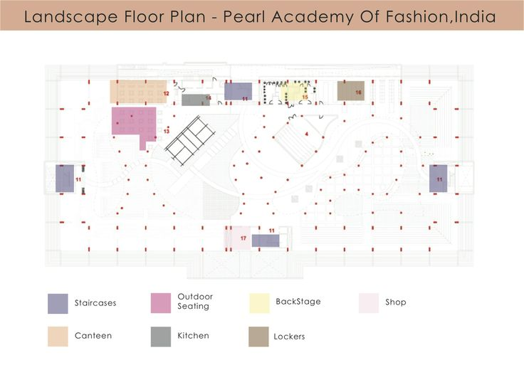 landscape floor plan pearl academy of fashion phase 2