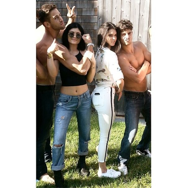Oh You Know, Just A Casual Photo Of Kendall And Kylie Jenner With Half-Naked Men Whose Abs Could Cut Through Steel