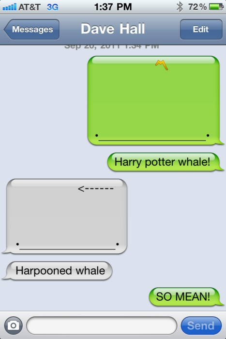 Funny Things To Make With Text Symbols : funny, things, symbols, Whale