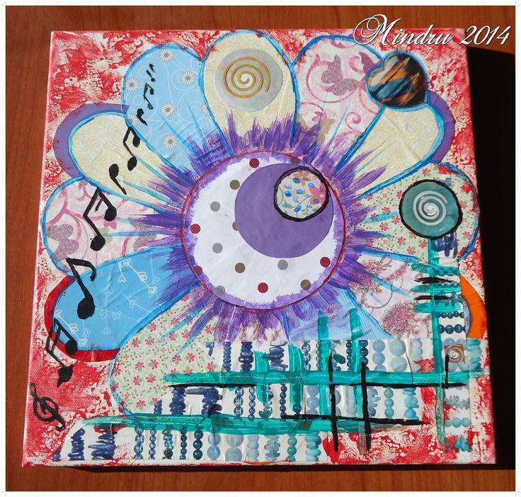 SONATINE - Decoupage on canvas