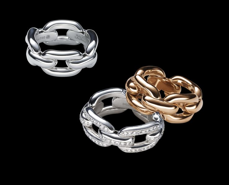 Ralph Lauren Fine Jewelry Collection Chunky Chain Rings