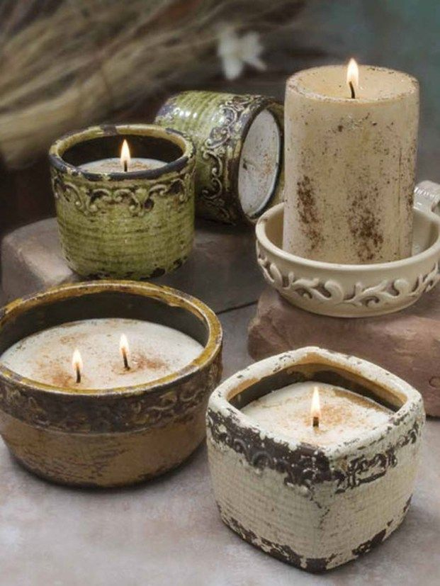 Creative Diy Christmas Candle Holders Ideas To Makes Your Room More Cheerful 76 Pottery Candle Christmas Candle Holders Diy Pottery Candle Holder