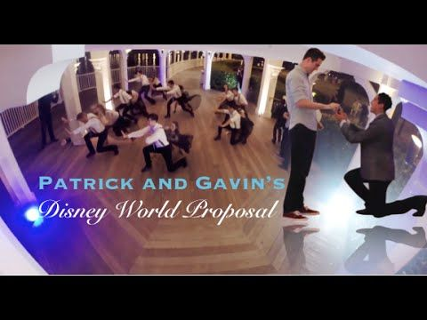 Real life couple Patrick and Gavin got engaged in the Boardwalk Gazebo where Bull and Red exchange vows - Disney World Proposal
