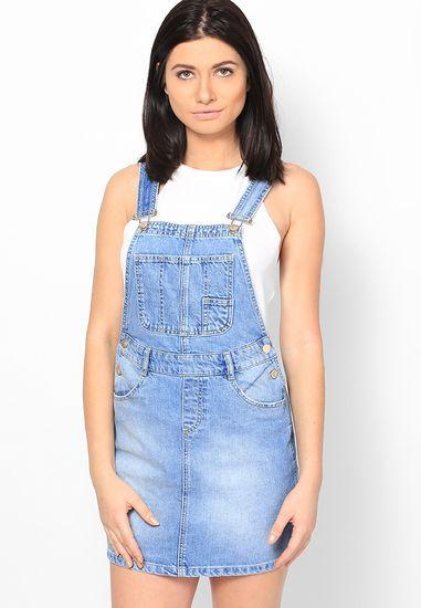 Lola Skye Denim Dungarees Online | Buy Dorothy Perkins Skirt India.