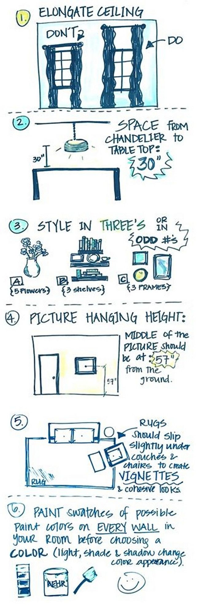Inside Design Tips And Guidelines. Easy Methods To Make Your Ceilings Look Taller. Distanc…