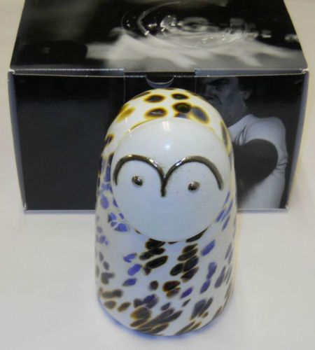 Oiva-Toikka-Snow-Owl-Art-Glass-Bird-Lumipollo-Stockmann-Iittala-Finland-NIB
