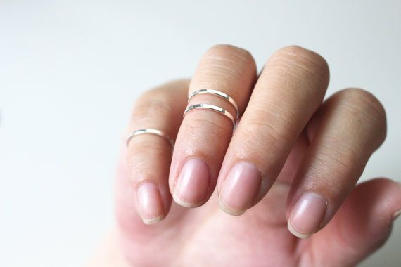 Knuckle Ring Set Sterling Silver ring  Knuckle by JCoJewellery