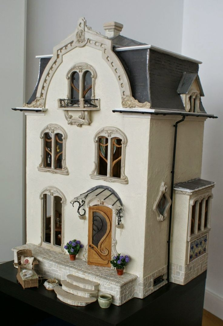 Victorian miniature houses - Summer Is Over At Last And So Is My Moving My Art Nouveau House Has Found A New Home In My Living Room