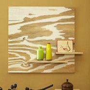 DIY Wood Grain Art - this is so pretty!
