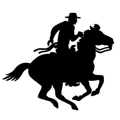 Cowboy rider silhouette