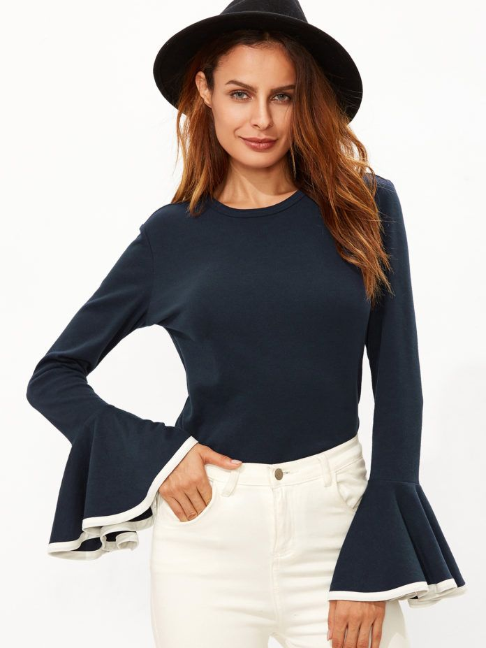 15 Ruffle shirt, Embellished top, Long sleeve shirts under $15   All in One Guide   Page 11