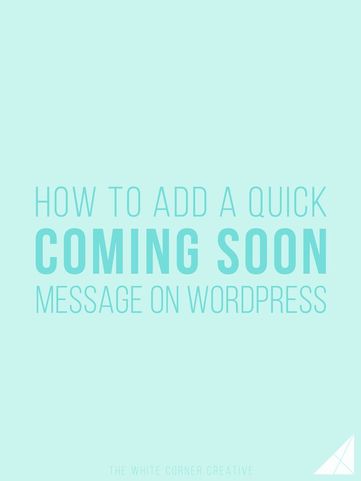 Designing your Wordpress site can take a while, so adding a coming soon message is a good idea to hide the site while you work - here's how.