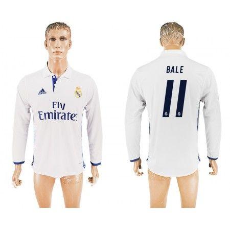Real Madrid 16-17 Gareth #Bale 11 Hjemmebanetrøje Lange ærmer,245,14KR,shirtshopservice@gmail.com