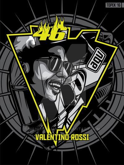 Valentino Rossi by mahiratama19.deviantart.com on @DeviantArt