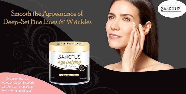 Sanctus Age Defying Night Cream  Smooth The Appearance of Deep-Set Fine Lines & Wrinkles!  Order age defying night cream online at https://www.sanctusonline.com/age-defying-night-cream.php  Call at +91 8700202328 to know more info about our products.