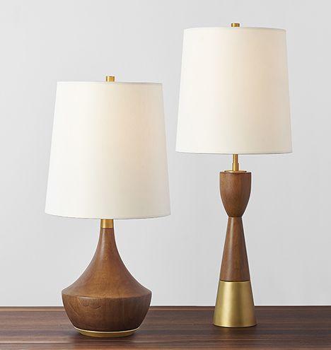 Mid-Century Wooden Table Lamps | Rejuvenation