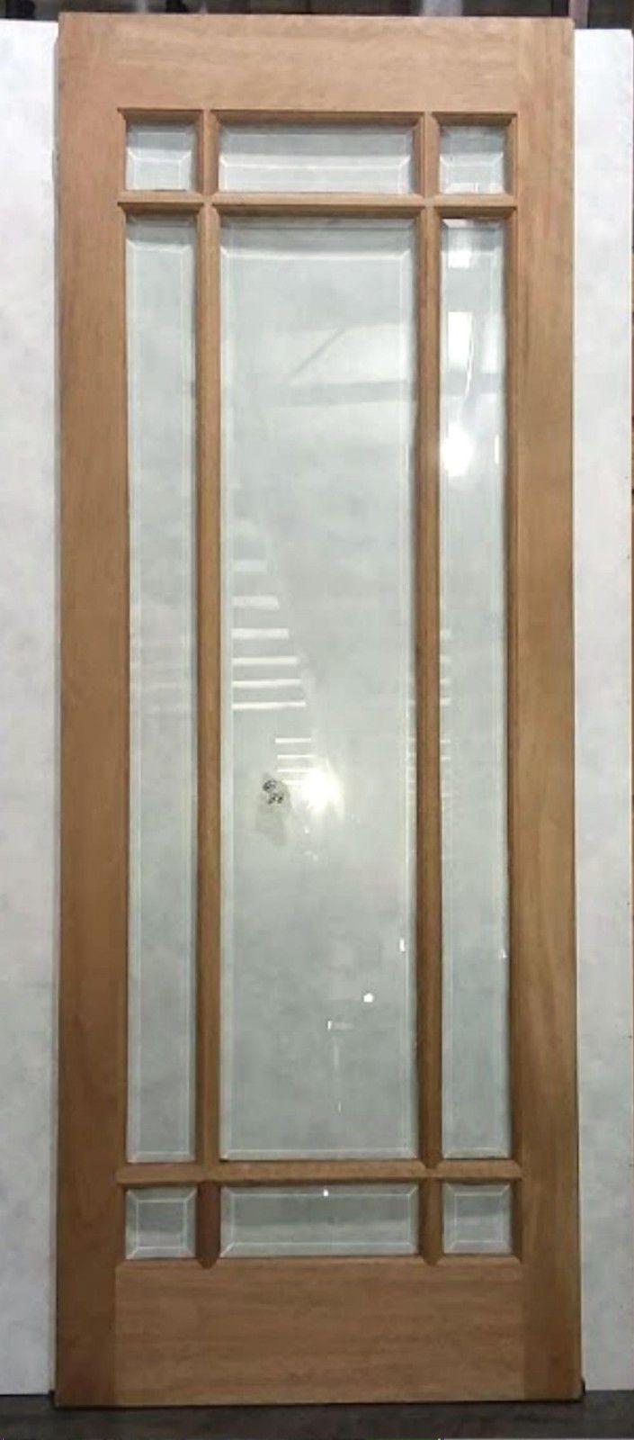 Doors 85892 Arts And Crafts Solid Mahogany Wood Slab Door Beveled