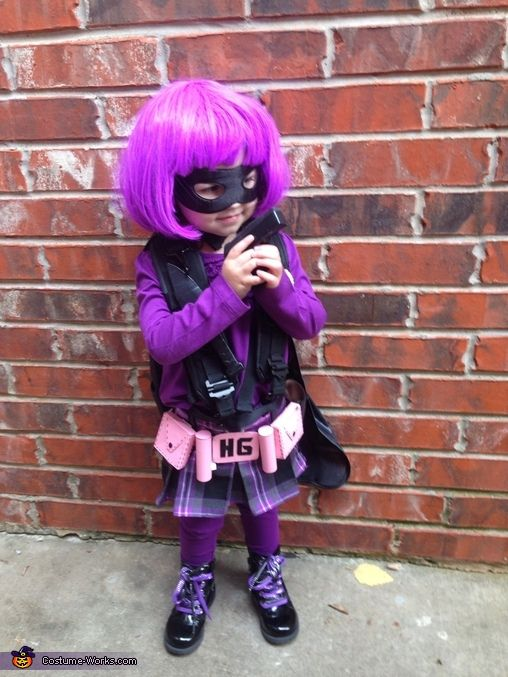 hit girl costume baby | Hit Girl toddler! . Hit Girl - Homemade costumes for babies
