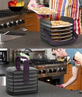 Cookie Keeper - has silicone trays that are oven safe and trays go directly into the Cookie Keeper