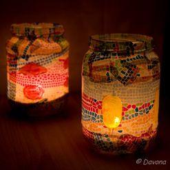 Výroba svícnů ze sklenice