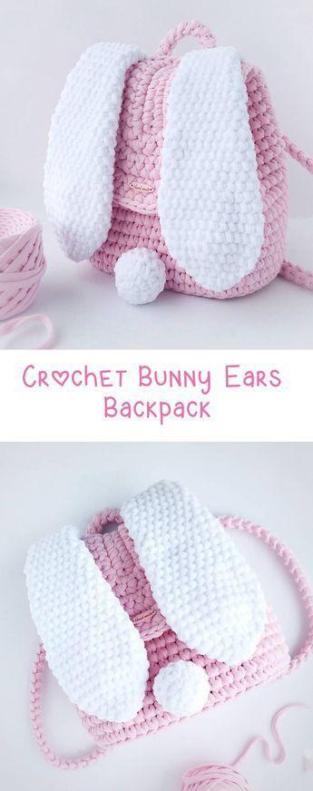 Crochet Backpack – Bunny Ears – #Backpack #bag #…