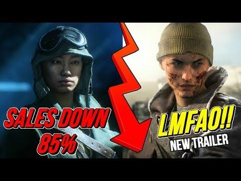 Battlefield V Sales Down 85% vs Black Ops 4 - New SJW Trailer