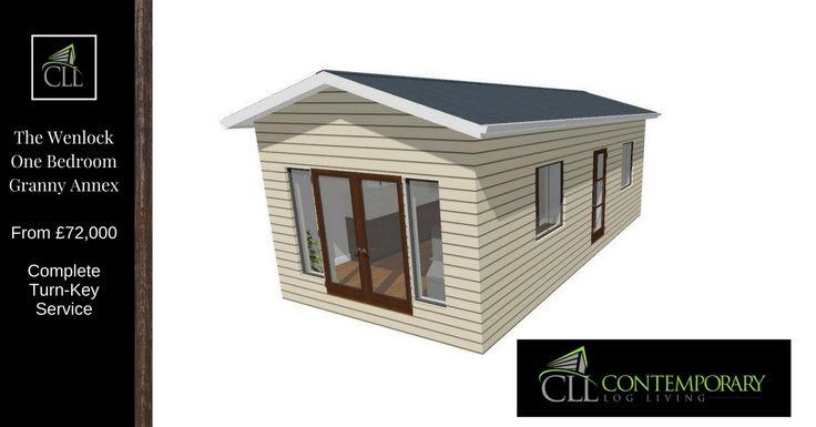 The Wenlock One Bedroom Granny Annex - Contemporary Log Living | Contemporary Granny Annex