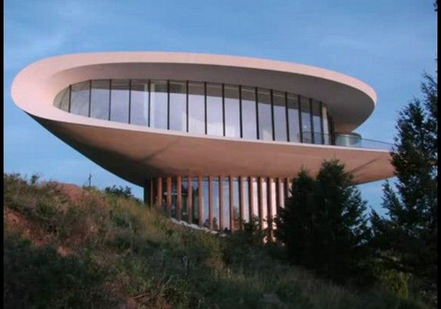 James Bond House spaceship house - golden, colorado - used in james bond movie.you