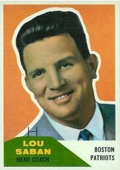 1960 Fleer #55 Lou Saban Front