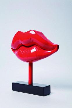 Modelo:  Sweet Kiss    Descripción: Figura decorativa en fibra de vidrio tipo labios sensuales