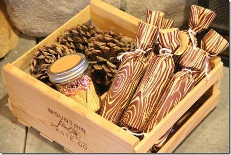 """DIY: Caja con """"Arrancadores para el fuego"""" para la Chimenea."""