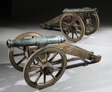 A Pair of Venetian Cannons and Carriages