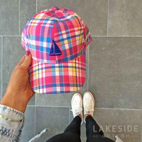 Sailboat Plaid Baseball Hat | Lakeside Cotton