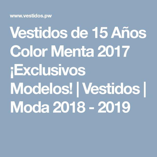 Vestidos de 15 Años Color Menta 2017 ¡Exclusivos Modelos! | Vestidos | Moda 2018 - 2019