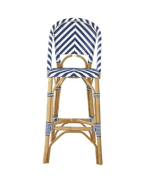 French Bistro Chevron Stool