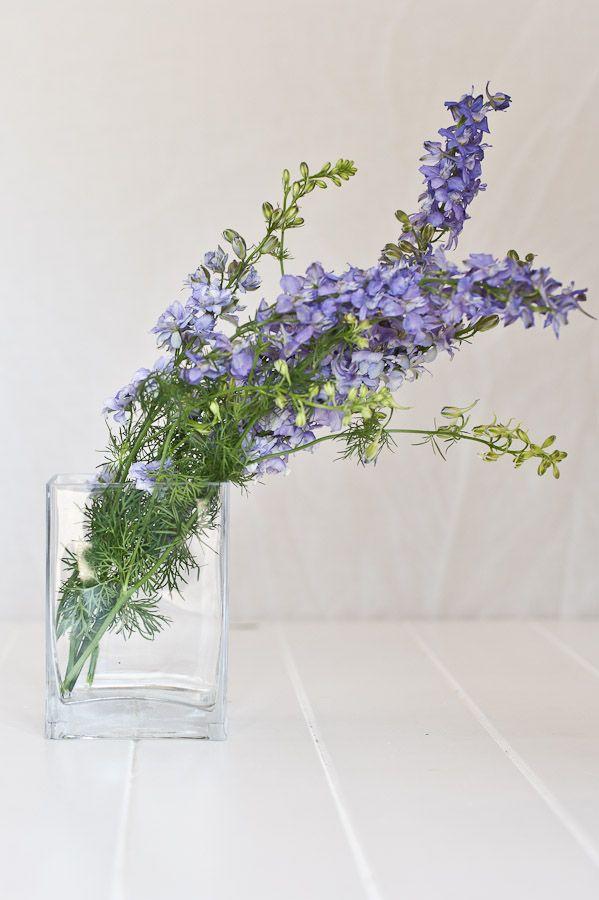 Rectangular Glass Vase for modern floral arrangements