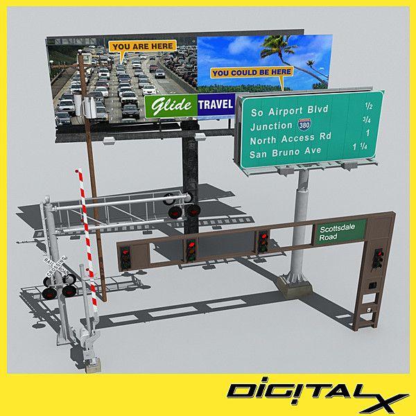 Beautiful D Traffic Billboard Signs Model D Model