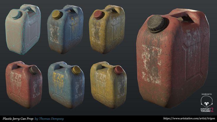 Plastic Container Props, Thomas Dempsey on ArtStation at https://www.artstation.com/artwork/PEOK1