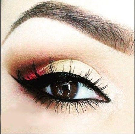 Ojos marrones sombra rosa