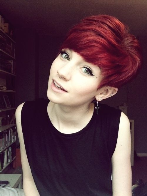 Short Red Hairstyles red color for super stacked short hairstyles Short Red Hairstyles For Women
