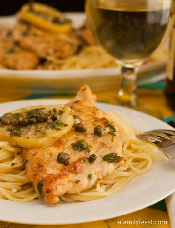 Chicken Piccata - Fast - tip: less lemon and cook capers and lemon slices for very short period of time.