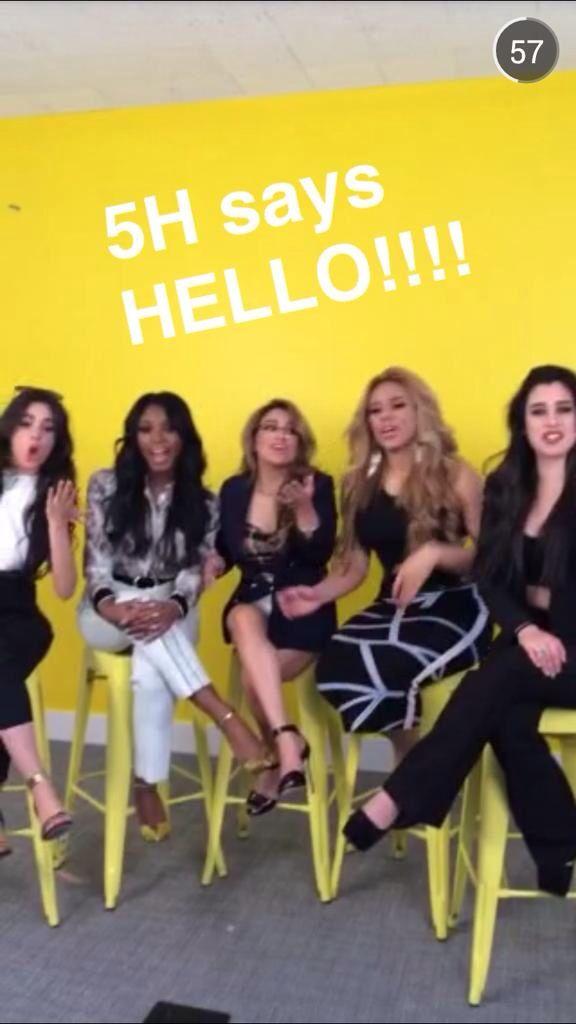 Fifth Harmony on buzz feeds celebrity snapchat!