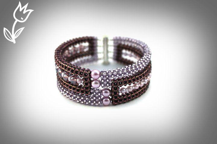 Сиреневый браслет | biser.info - всё о бисере и бисерном творчестве