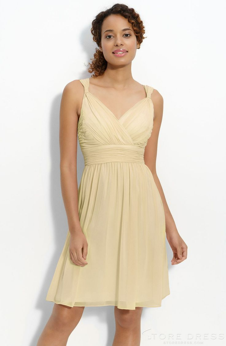 81 best bridesmaids dresses images on pinterest fashion clothes bridesmaids dresses donna morgan ruched chiffon dress fabric loops cinch the straps on a floaty chiffon dress with a surplice v neckline and empire waist ombrellifo Image collections